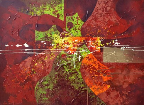 abstract composition #1 painting vlad tasoff