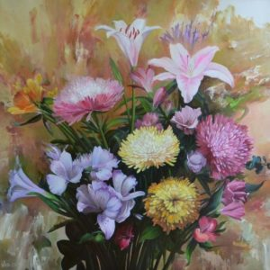 Ecuadorian Flowers Painting by Vlad Tasoff