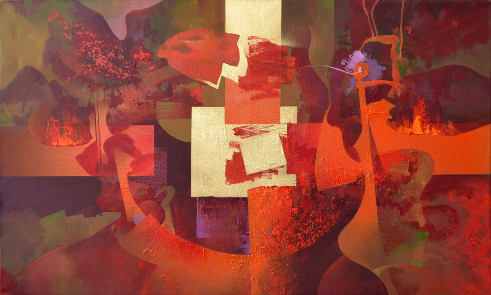 Abstract Composition #3 Painting Vlad Tasoff
