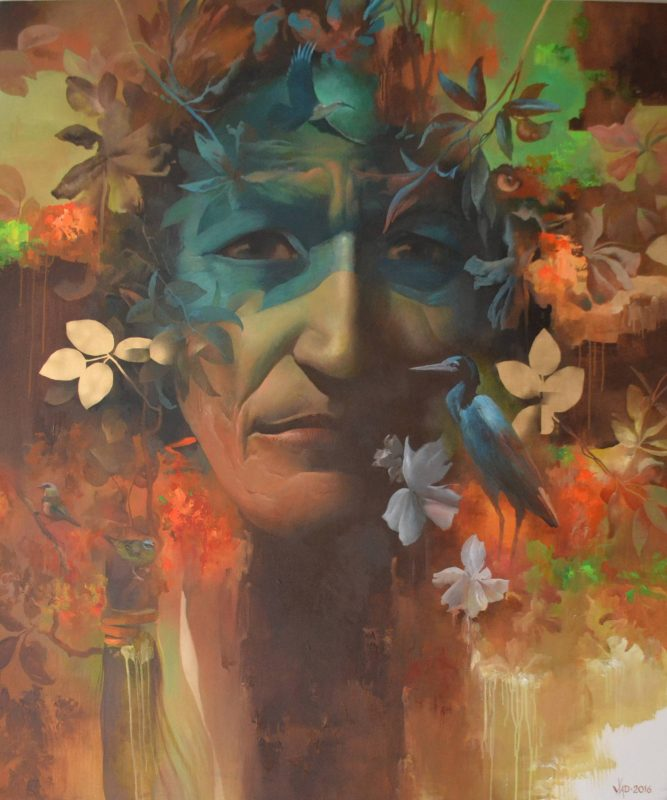 Shaman painting by Vlad Tasoff