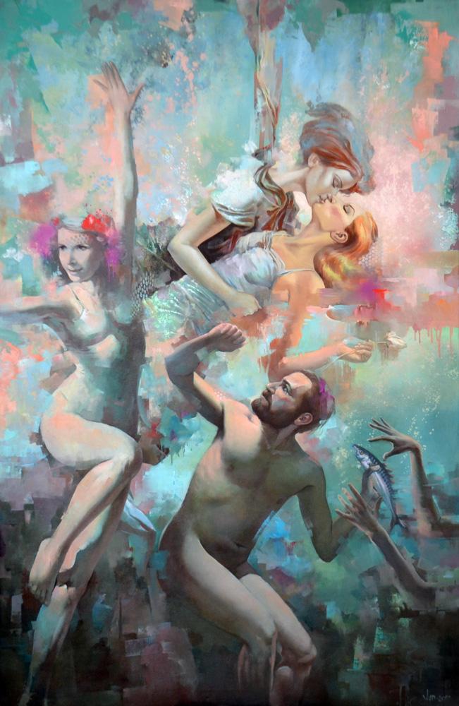 Jump painting by Vlad Tasoff